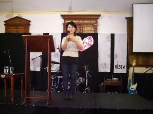 tomoko speaking