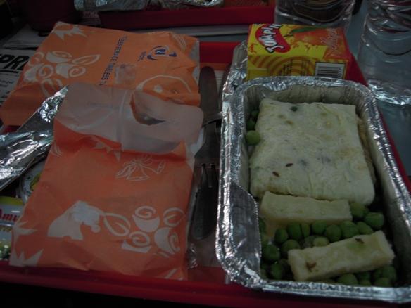 アグラー行き列車の朝食2