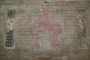 ワット・ポーの人体図の壁画