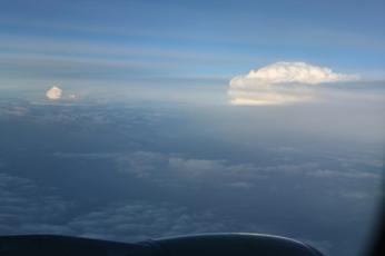 タイの上空にて