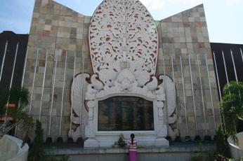 バリ島のテロ犠牲者のモニュメント