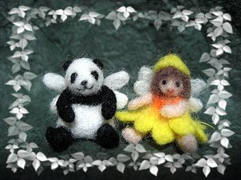 羊毛フェルト☆妖精パンダ