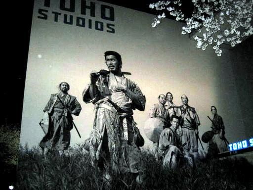 東宝撮影所の壁画 七人の侍