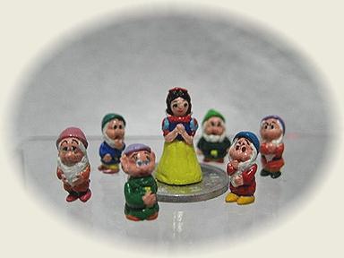 樹脂粘土☆白雪姫と6人の小人
