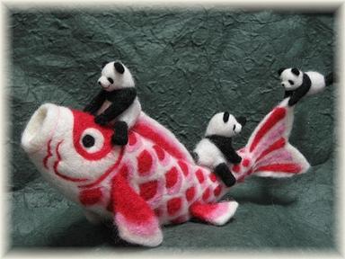 鯉とパンダたち