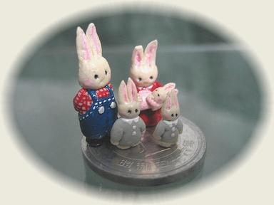 樹脂粘土☆ウサギの親子