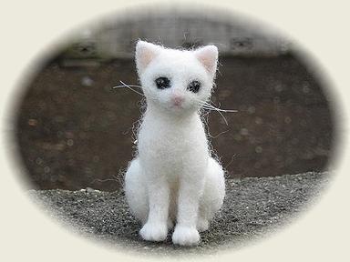 羊毛フェルト☆白猫