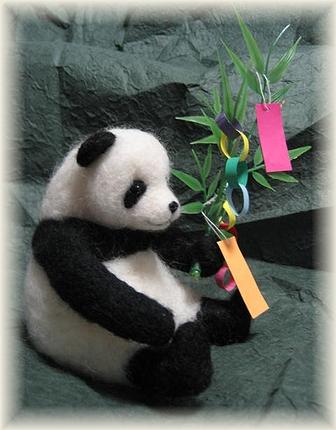 羊毛フェルト☆たなばたパンダ