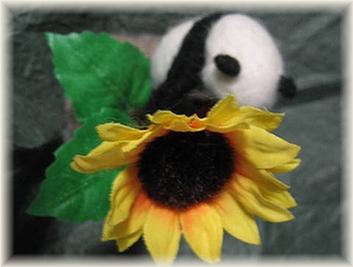 羊毛フェルト☆園芸パンダ(ひまわり)