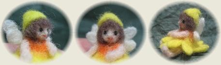 羊毛フェルト☆ひまわりの妖精
