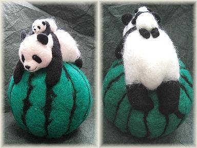 パンダとスイカ