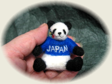羊毛フェルト☆オリンピックパンダ