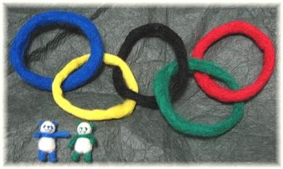 羊毛フェルト☆オリンピックグッズ製作中