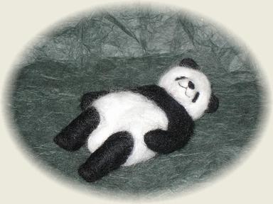 羊毛フェルト☆パンダ(ポーズいろいろ) その2
