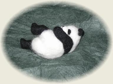 羊毛フェルト☆パンダ(ポーズいろいろ) その3