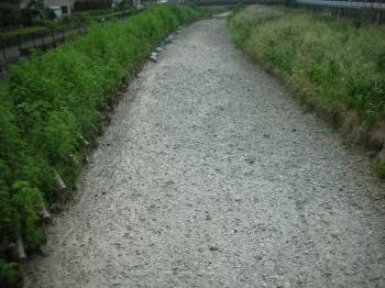水の無い空堀川