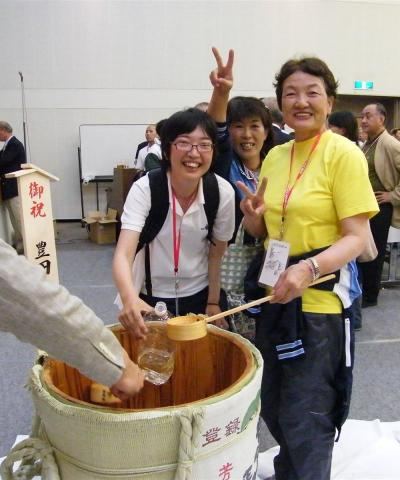 豊田章一郎様 贈呈の樽酒