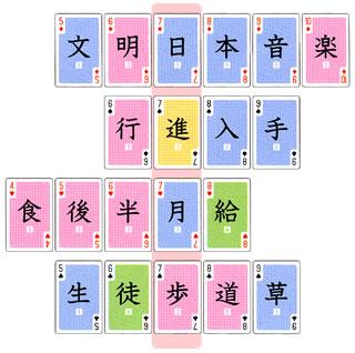 熟語トランプ:七ならべ