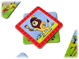 走れライオン:ライオンカードを重ねる