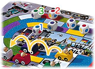 モンツァ・カーレース:色を選んで進む