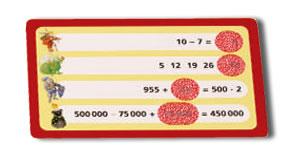 騎士の算術レース:計算カード
