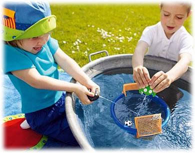 水遊びゲーム:ぴゅーっとゴール!:遊戯中