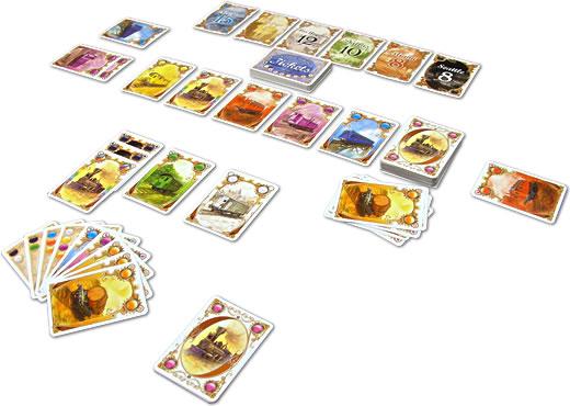 チケットトゥライドカードゲーム:プレイ外観