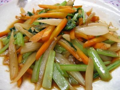 三色野菜の簡単炒め