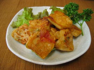 凍り豆腐のトマト風味ピカタ