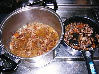 もつ煮 煮豆