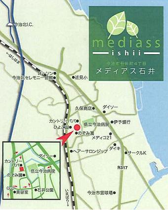西川邸地図
