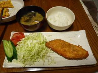 080331 鮭フライ サラダ