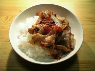 豚ばら肉の簡単深食風生姜焼き004