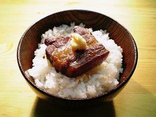 料亭旅館坂本屋の東坡煮(とうばに)で丼002