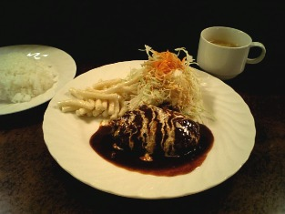 THEダイヤモンド 洋食・洋酒 トリス バー サントリーコーナー ハンバーグ004