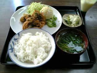 山田ホームレストラン本日の定食Aカキフライ003