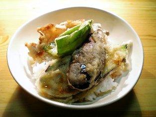 肉野菜天丼001
