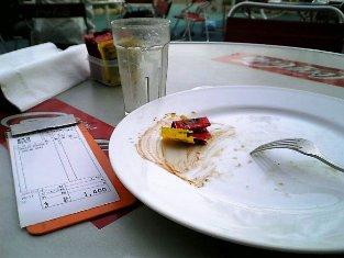 ベイサイドマリーナ横浜のベイサイド デリでチーズバーガーセット006