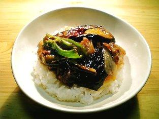 CookDo麻婆茄子で麻婆茄子丼(豚ばら)001