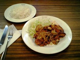 レストランポニー 生姜焼(ライス付)005
