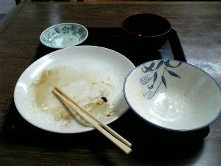 山田ホームレストラン本日の定食Cのウィンナー004