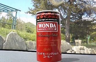 朝の缶コーヒー
