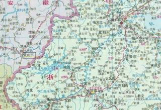 浙江省地図