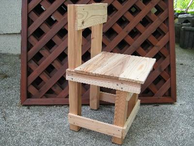 手作りの椅子