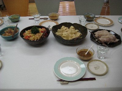 作ったお料理