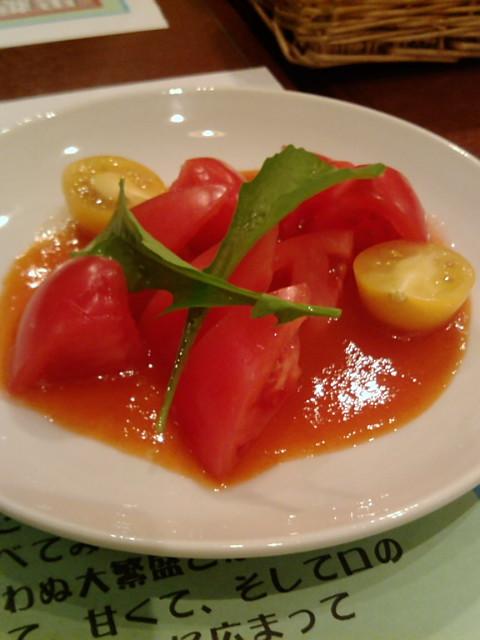 トマトサラダ。