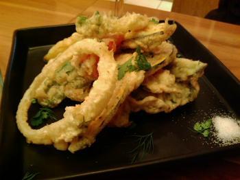 野菜の天ぷら。