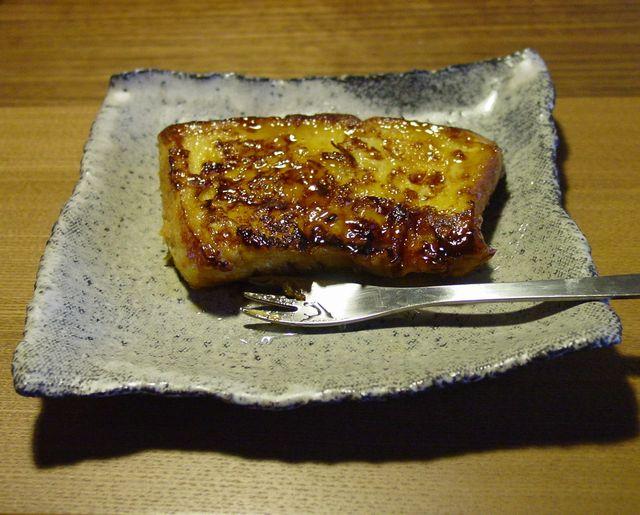 炭化白釉 ちぎり角皿 パン