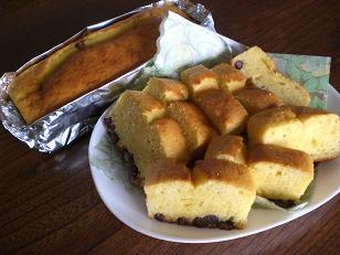 簡単あずきケーキ