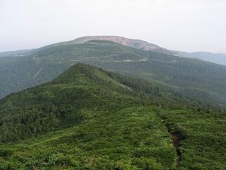 杉ケ峰より前山・刈田岳・熊野岳方面